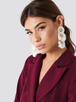 NA-KD Boho Round Fringy Oversize Earrings - Smycken