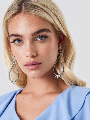 NA-KD Accessories smycke Rhinestone Twisted Drop Earrings