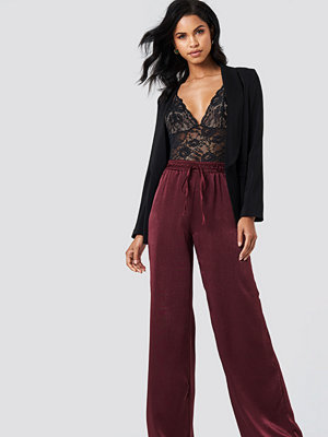 Trendyol omönstrade byxor High Waist Satin Pants