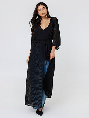 NA-KD Boho Structured Chiffon Coat Dress - Kaftaner