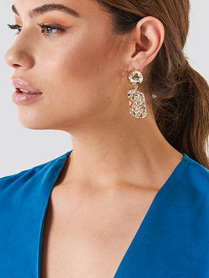 NA-KD Accessories smycke Hanging Structured Square Earrings