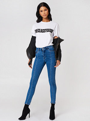 NA-KD Highwaist Skinny Panel Jeans