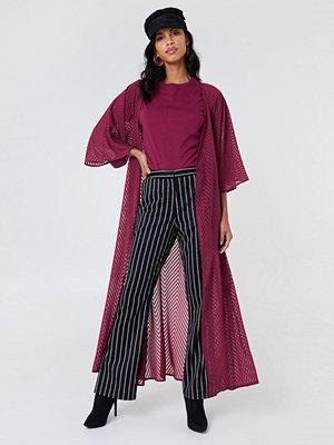 NA-KD Boho Structured Chiffon Coat Dress - Kaftan