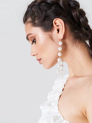 NA-KD Accessories smycke Hanging Multi Pearl Earrings