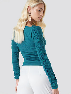 NA-KD Trend Ruched Sleeve LS Top