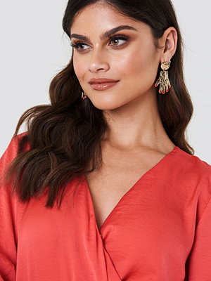 NA-KD Boho Hanging Structured Hands Earrings - Smycken
