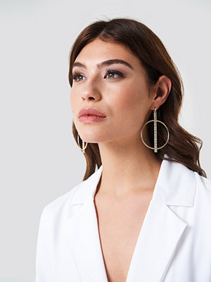 NA-KD Party Sparkling Bar Hoop Earrings - Smycken