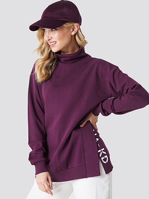 NA-KD Slit Embroidery Sweatshirt