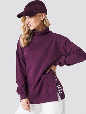NA-KD Slit Embroidery Sweatshirt lila