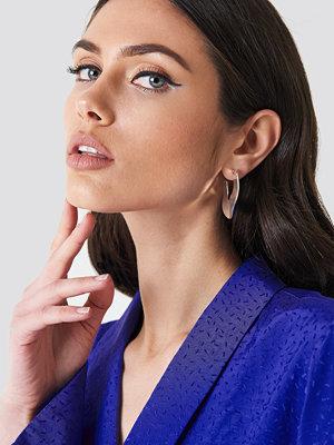 NA-KD Accessories Uneven Flat Hoop Earrings - Smycken