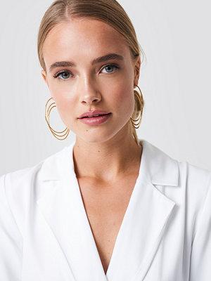 NA-KD Accessories smycke Combined Triple Hoop Earrings