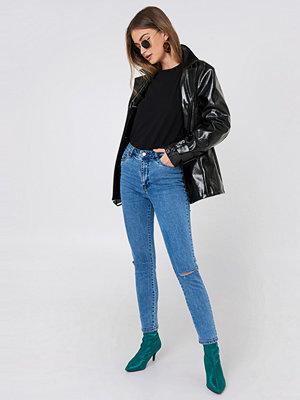 NA-KD Highwaist Ripped Knee Skinny Jeans