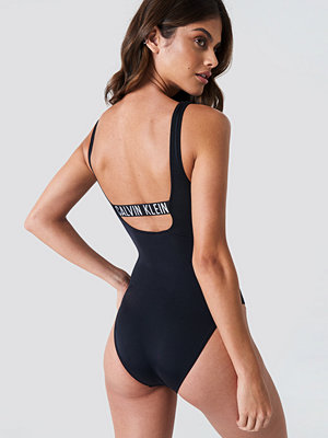 Calvin Klein Square Scoop One Piece RP svart