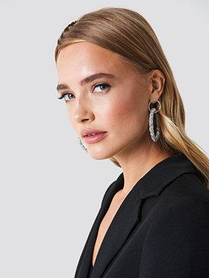 NA-KD Accessories smycke Glittery Double Hoop Earring