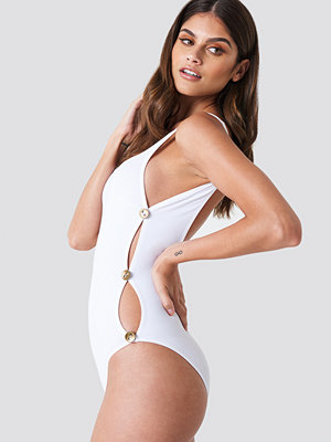 Trendyol Button Detailed Swimsuit - Baddräkter