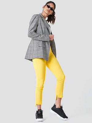 Trendyol gula byxor Asymmetric Hem Trousers
