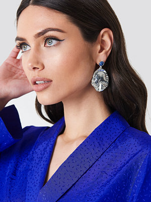 NA-KD Accessories smycke Round Structured leaf earring - Jewellery