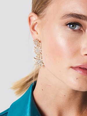 NA-KD Party Hanging Sparkling Stars Earrings - Smycken