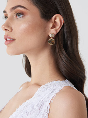 NA-KD Accessories smycke Embellished And Structured Round Earrings