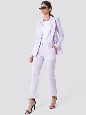 Trendyol Creased Linen Pants - Kostymbyxor omönstrade