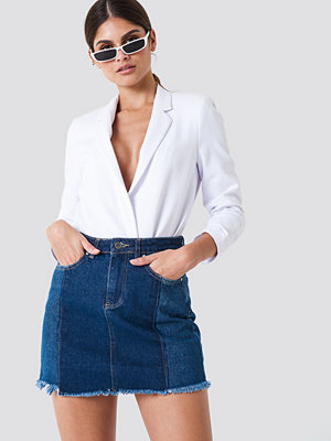 Trendyol Blocked Midi Denim Skirt