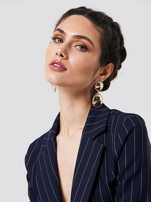 NA-KD Accessories smycke Structured Edge Hanging Earrings