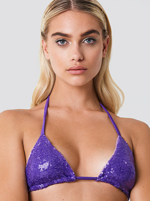 Galore x NA-KD Sequin Bikini Top lila