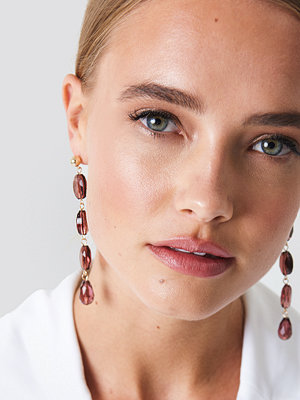 NA-KD Accessories smycke Hanging Colorful Stones Earrings