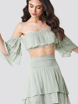Linn Ahlborg x NA-KD Crepe Layer Skirt