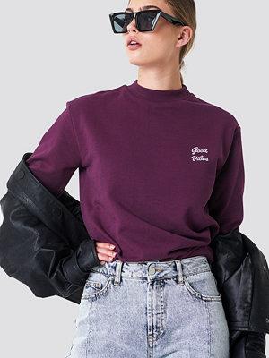 NA-KD Good Vibes Sweatshirt lila