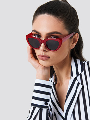 NA-KD Accessories Cat Eye Sunglasses röd