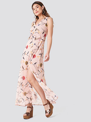 Trendyol Printed Side Slit Dress - Maxiklänningar