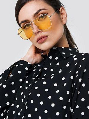 NA-KD Accessories Squared Metal Sunglasses - Solglasögon