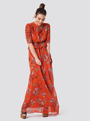 Trendyol Ruched Sleeve Maxi Dress - Maxiklänningar