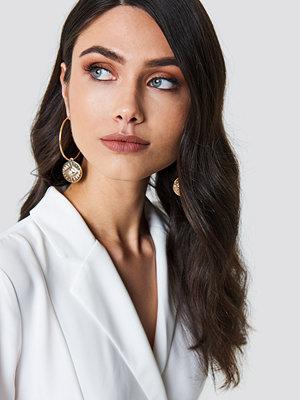 NA-KD Boho Evil Eye Hoop Earrings - Smycken