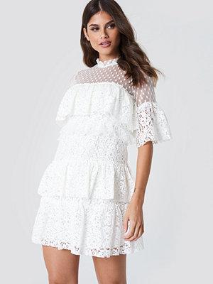 Trendyol Lace Dot Mini Dress - Miniklänningar