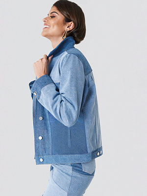 Andrea Hedenstedt x NA-KD Re Done Denim Jacket blå