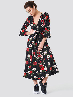 Rut & Circle Jane Flower Dress svart