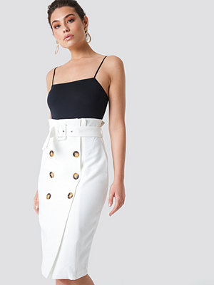 Trendyol Button Detailed Midi Skirt vit