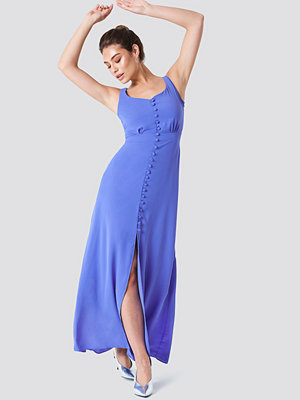 Trendyol Buttoned Front Slit Dress blå
