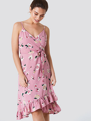 Trendyol Frill Flower Midi Dress - Midiklänningar