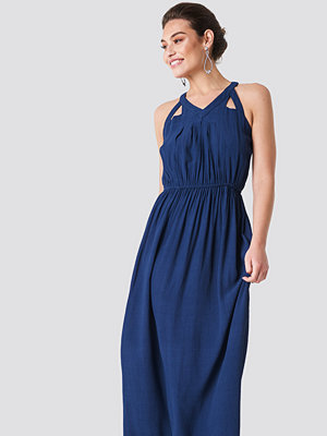 Rut & Circle Hip Long Dress blå