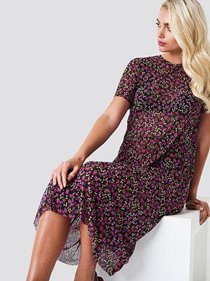 Rut & Circle Flower Mesh SS Dress - Midiklänningar