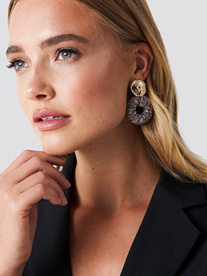 NA-KD Boho Wrapped Hanging Hoop Earrings - Smycken