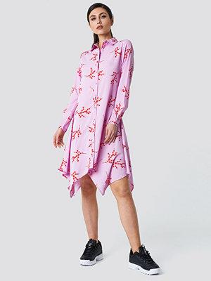NA-KD Trend Asymmetric Midi Shirt Dress