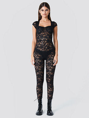 Sahara Ray x NA-KD Lace Bodysuit svart