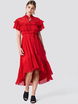 Trendyol High Neck Frill Midi Dress - Midiklänningar