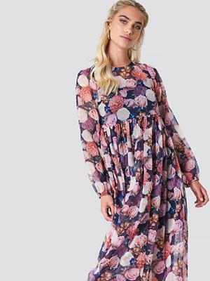 NA-KD Boho Balloon Sleeve Maxi Dress - Maxiklänningar
