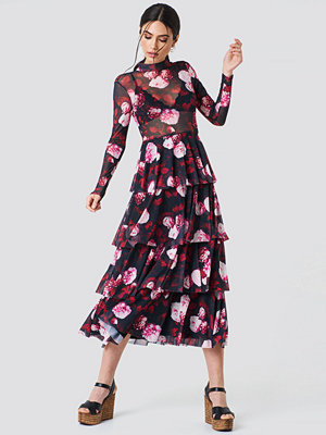 NA-KD Mesh Layered Dress - Midiklänningar