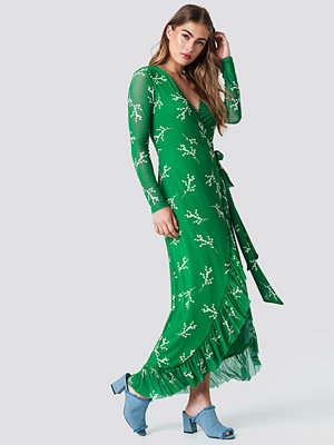 NA-KD Trend Mesh Wrap Waist Dress - Midiklänningar
